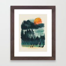 Wilderness Camp Framed Art Print