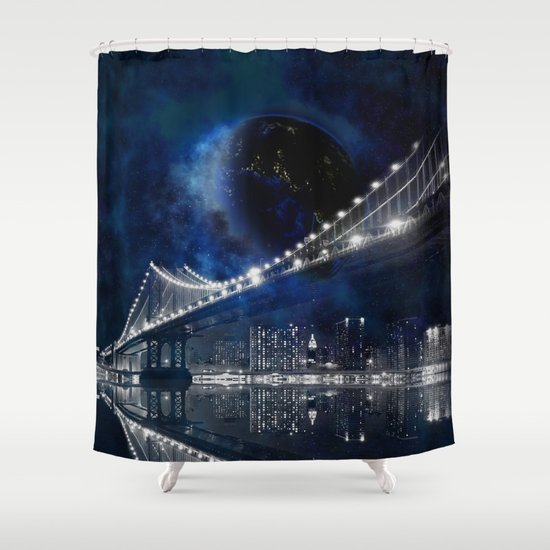 New New York City Shower Curtain By Simone Gatterwe