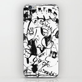 Caged Bird - b&w iPhone Skin
