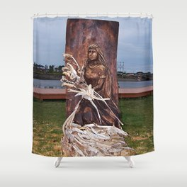 Driftwood Flower Lady Shower Curtain