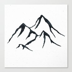 MOUNTAINS Black and White Canvas Print