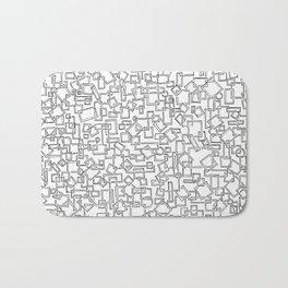 Graphic Geometric Black and White Minimalist Print Bath Mat