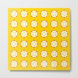 Maroccan Yellow Stars Metal Print