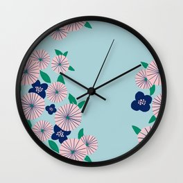 Oriental vintage Flower Wall Clock