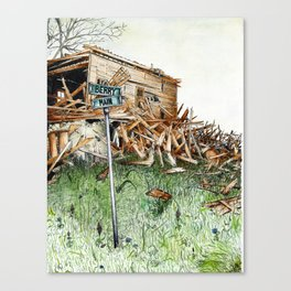 broken barn Canvas Print