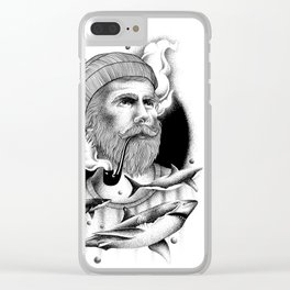THE MAN AND THE SEA Clear iPhone Case