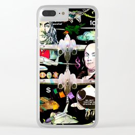 Oh But They're So Spaced Out Clear iPhone Case
