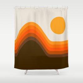 Golden Horizon Diptych - Left Side Shower Curtain