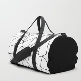 Simple Modern Black and White Geometric Pattern Duffle Bag