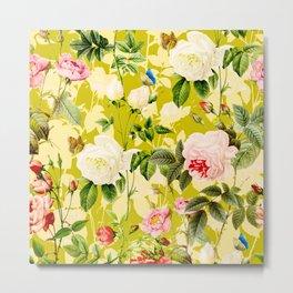 Botanic Floral Metal Print