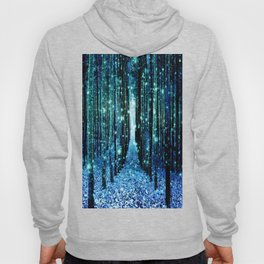 Magical Forest Teal Turquoise Hoody
