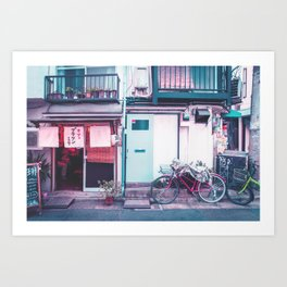 Afternoon in a Tokyo Residential Street Art Print