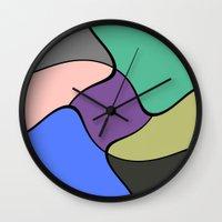 trip Wall Clocks featuring Trip by Cs025