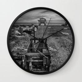 Winched Fishing Boats Wall Clock