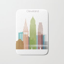 Cleveland art skyline, Bath Mat