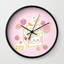 Strawberry Milk Carton Wall Clock