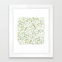 The Birds and the Leaves Framed Art Print