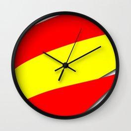 Team Spain #spain #espana #football #worldcup #soccer #fan Wall Clock