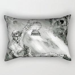 Frankestein - based on the wonderful work of Bernie Wrightson  Rectangular Pillow