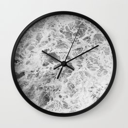 The Waves (Black and White) Wall Clock