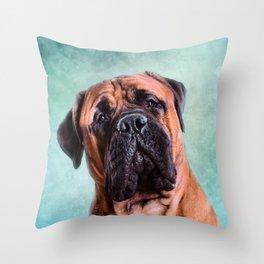 Bullmastiff dog Throw Pillow