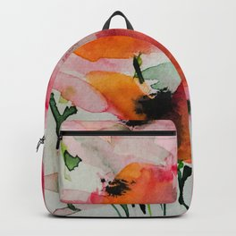 red flowers in the garden Backpack