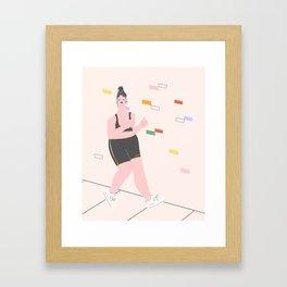 Joggin' Cutie Framed Art Print