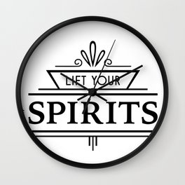 Lift Your Spirits Wall Clock