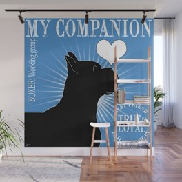 BOXER – My Companion - Blue Wall Mural