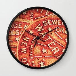 New Orleans Water Meter Wall Clock