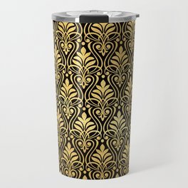 Glamorous Gold Art Deco Pattern Travel Mug