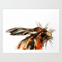 hare Art Prints featuring Hare by James Peart