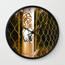 Gwap Graffiti Sticker Wall Clock