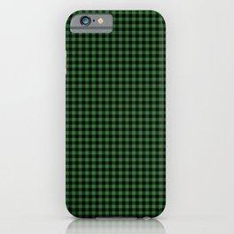 Mini Black and Dark Green Cowboy Buffalo Check iPhone Case