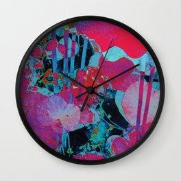 Flora Celeste Agate Lotus  Wall Clock
