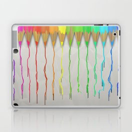 Melting Rainbow Pencils Laptop & iPad Skin