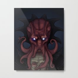 Illithid Portrait Metal Print