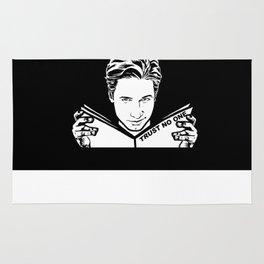 Spooky Mulder (black) Rug