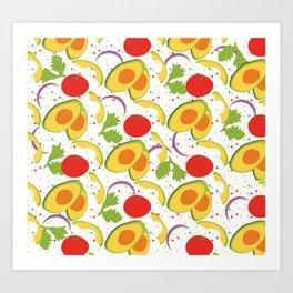 Fiesta Party Salad Avocado Tomatoes Cilantro Onions Art Print