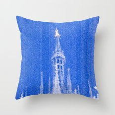 Night of Blue over Milan Throw Pillow