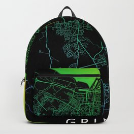 Grimsby, England, Rainbow, City, Map Backpack