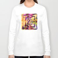 kandinsky Long Sleeve T-shirts featuring Number 1 Abstract by Mark Compton by Mark Compton