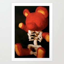 Teddy Bare Bones Art Print