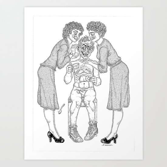 The Defamation of Normal Rockwell II (NSFW) Art Print