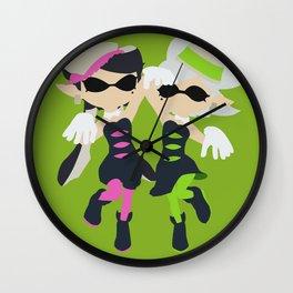 Callie & Marie (Green) - Splatoon Wall Clock