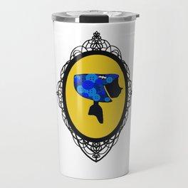 Cute As A Button Framed Travel Mug