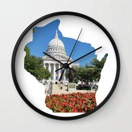 Beautiful Capitol Building in Wisconsin Wall Clock