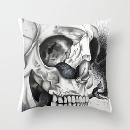 Swarming Psychedelic Throw Pillow