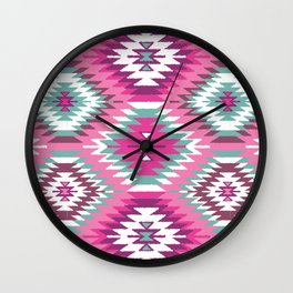 Navajo Dreams-Pink Wall Clock