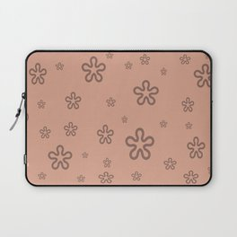 flowers on coral Laptop Sleeve